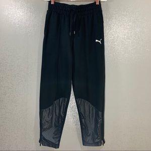 PUMA Black Sweatpants w/ Cool Calf Detail Size S